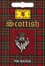 Scottish Thistle Pewter Lapel Pin Badge