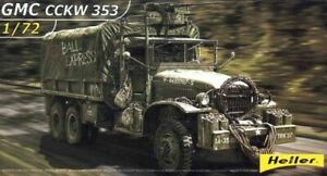 HELLER 1/72 GMC CCKW 353 MILITARY TRUCK W/CANVAS-TYPE COVER 79996