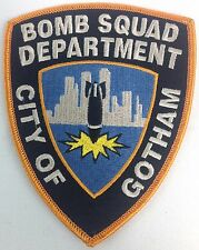 BATMAN Begins Movie City of Gotham Bomb Squad Department Police Iron-On Patch