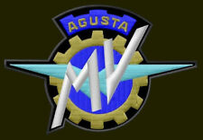 "MV AGUSTA EMBROIDERED PATCH ~4-1/4"" x 3-1/2"" MOTORCYCLE BORDADO PARCHE AUFNÄHER"