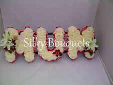 Mum Artificial Silk Funeral Flower 3 Letters Floral Tribute Wreath Nan Memorial