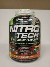 Muscletech  NitroTech  Whey Peptides   Isolate Primary Source  Milk Chocolate  4