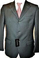 GUCCI Anzug Hose Mens Suit traje 50 M  L NEU 1.290 € NEW Wolle Cashmere grau NEW