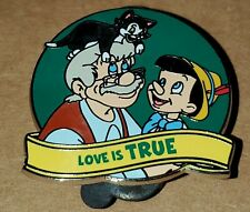 Disney Pin Pinocchio Love is True Love is an Adventure Free Ship Lr
