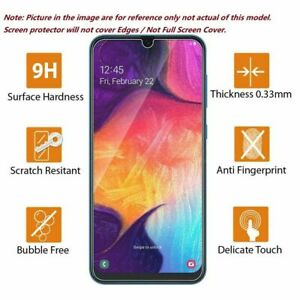 For Samsung Galaxy A20 A51 A40 A71 A70 A80 Clear Tempered Glass Screen Protector