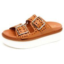 F3264 sandalo donna light brown TOD'S scarpe zeppa shoe woman