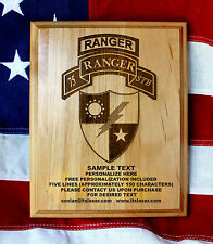 75th Ranger Regiment Plaque, 1st 2nd 3rd STB Battalion Personalized gift, Army