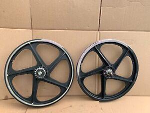 Old School BMX Radberry Peregrine Graphite Redline Wheels Rims Hutch Haro GT 567