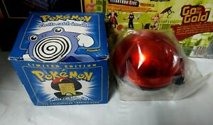 Pokemon 1999 Burger King 23k gold plated trading card Poliwhirl Blue Box Sealed