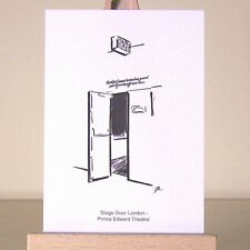simple London West End stage door drawing ACEO Art Card Prince Edward Theatre
