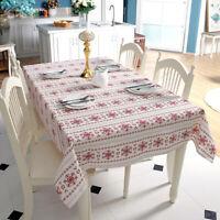 Weihnachten Tischdecke Weiß Tischwäsche Tischtuch Tischdeko Esszimmer Tischdeko