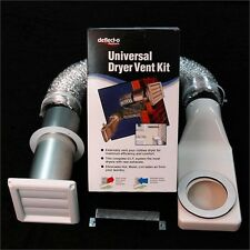 Deflecto Universal Clothes Dryer Wall Exhaust Vent Kit