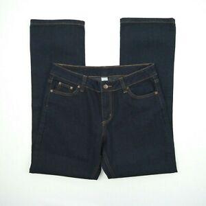 Target - Straight Leg Mid Rise Dark Blue Denim Jeans Women's Size 12S W31