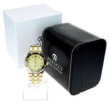 Perucci Mens Luxury Gold Metal 3 Bar Water Resistant Analog Round Wrist Watch