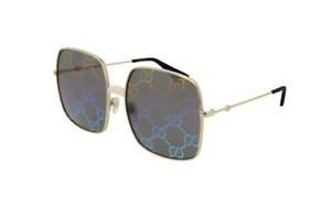 Gucci GG 0414S 003 Gold/Multicolor Mirrored Women's Sunglasses