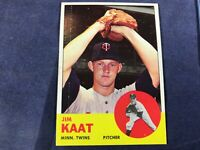 Z3-35 BASEBALL CARD - JIM KATT MINNESOTA TWINS - 1963 TOPPS - CARD #165