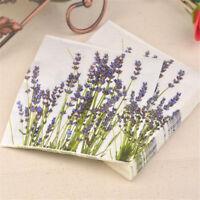 20pcs purple lavender paper napkins serviette tissue party supply home decor ADD