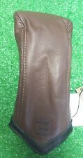 Sun Mountain 3 Fairway Wood Golf Headcover Chevron Brown Black Leather NEW