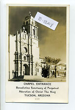 Tucson Az Rppc real photo Chapel Entrance Benedictine Sanctuary 1940's?