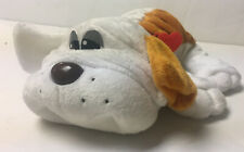 """Hasbro 2014 Pound Puppies Puppy Orange White Wrinkles 12"""" Plush Red Collar w Tag"""