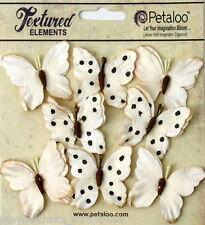 BUTTERFLY CREAM Mix 8 Teastained Paper 32-33mm across Darjeeling Petaloo Ver