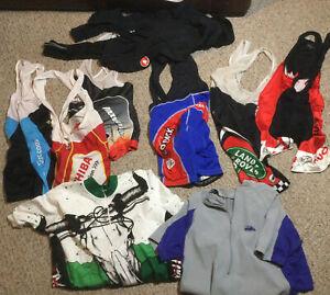 Vintage Cycling Bib Shorts Pants Jersey LOT L/XL Patagonia Castelli Primative