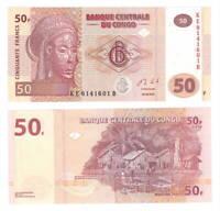 CONGO UNC 50 Francs Banknote (2013) P-97A Paper Money