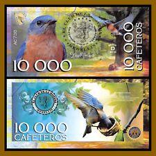 """El Club De La Moneda 10,000 Cafeteros, 2016 """"D"""" Series Indigo Bunting Bird Unc"""