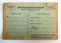 Lot of 2 - 1917  WW1 Prisoner of War Postcard - c-670