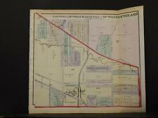 Ohio, Cuyahoga County Map Cleveland Part of 14th & 15th Ward 1874  K11#45