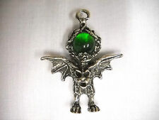 Gargoyle necklace ebay new wild xl pewter gargoyle w green encrusted orb glass ball pendant necklace aloadofball Gallery