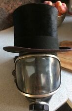 Steampunk Gothic Vintage Damaged Rowans Top Hat And Drager Panorama Gas Mask
