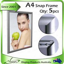 A4 Snap Clip Post Frames Silver / snap frame / poster frame / clip frame x 5pcs