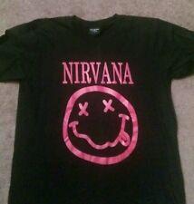 Nwot Nirvana Smiley face Tshirt. Size large
