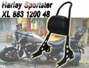SISSY BAR ADJUSTABLE STEEL BACKREST LUGGAGE RACK HARLEY SPORTSTER XL 883 1200 48