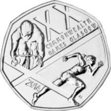 Royal Mint 2014 50p BU The Glasgow Commonwealth Games UK Brilliant Uncirculated