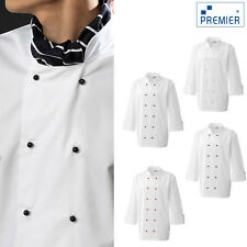 More details for premier chef's jacket studs (pr652) - adults kitchen cooking work wear jacket
