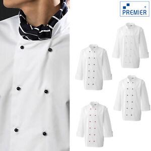 Premier Chef's Jacket Studs (PR652) - Adults Kitchen Cooking Work Wear Jacket