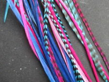 feather extensions 30 long tyedye real  bulk feather hair extensions 7-11""