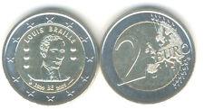 Bélgica 2 euros conmemorativa 2009 Louis Braille
