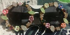 Katy Perry round Sunglasses embellished crazy rhinestone flower glasses pop 70s