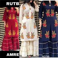 Stitched Salwar Kameez Plazzo Suit Indian Designer Pakistani PartyWare Palazo Hp