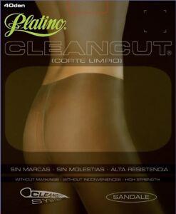 Platino Cleancut Glossy Shiny 40 Denier Sheer to Waist Pantyhose