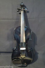 Back colors  electric & acoustic violin 1/2 including case , bow , rosin , line