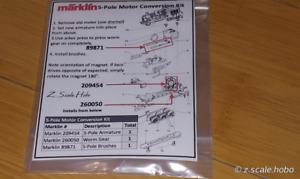 Marklin Z 209454 5-Pole Locomotive Motor Worm Gear Brushes Kit New *USA Dealer