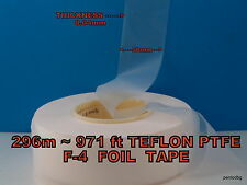 296m~971ft TEFLON PTFE F-4 FOIL TAPE 0.04mmX50mm USSR MYLITARY FACTORY PACK