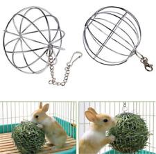 8cm Sphere Feed Dispenser Hanging Ball Guinea Pig Hamster Rabbit Pet Toy hs