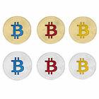 Silver/Gold Plated Bitcoin Coin Collectible BTC Coin Art Collection Physical