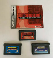 Nintendo Gameboy Advance Games Lot Namco Museum, Mario Kart, Pac-Man Collection