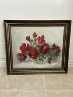 PAUL SESTON STILL LIFE OIL PAINTING Bouquet Of Roses FRENCH ART DECO FRANCE